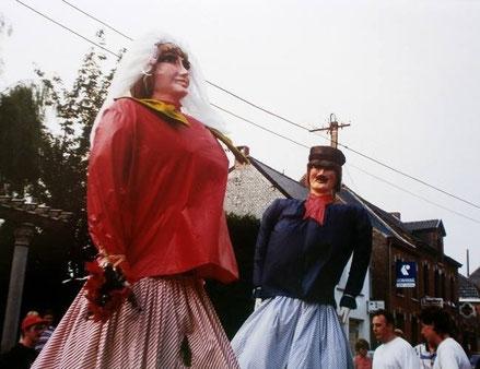 Zante et Rinette le Samedi de la Ducasse de Maffle 1994