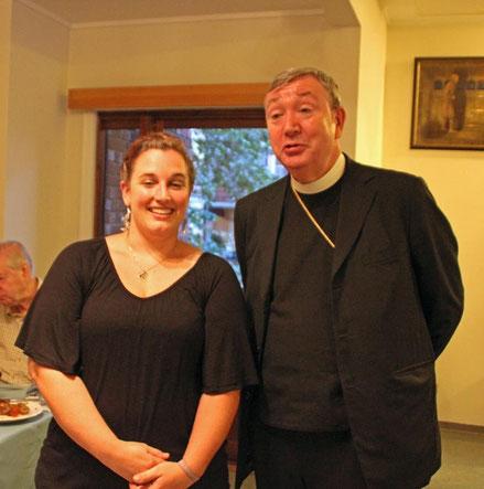 Katja Grohmann mit Oslos Bischof Bernt Eidsvig.