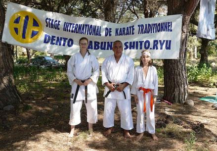 Korsika 2018: S. Pellegrini, Shihan Carlos Molina, D. Pellegrini