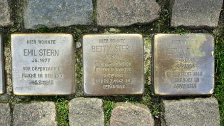 Drei Stolpersteine in Attendorn