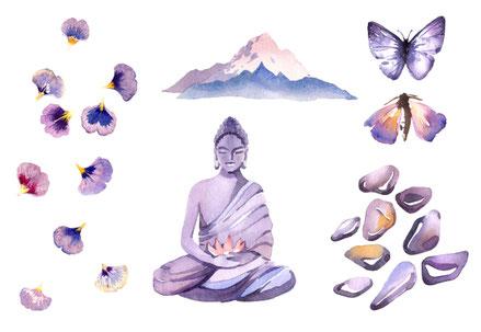 Meditation Mindfulness Balance Harmonie mentale Stärke Kraft