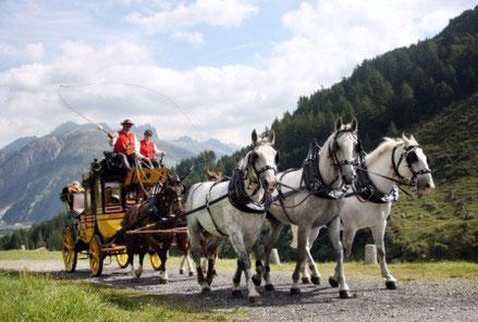 Die fünfspännig gefahrene Gotthardpost