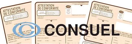 Certificat de conformité logo Consuel
