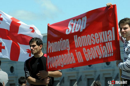 В Тбилиси прошла акция «Нет гей-Европе»