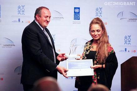 Президент Грузии награжден специальной наградой ООН за вклад в дело Гендерного Равноправия