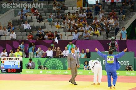 Дзюдоист Автандил Чирикишвили завоевал золото на первых Европейских играх в Баку