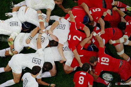 Массовая драка регбистов Грузии и Уругвая