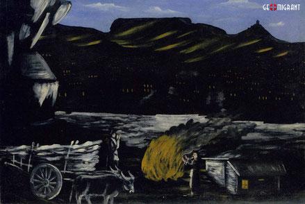Картина Пиросмани «Арсенальская гора ночью» продана на аукционе Christie's за $1,2 млн