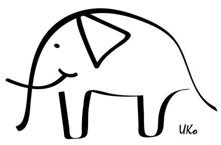 """UKo-Zeichnung im Lyrik-Band """"Manchmal Möchte Ich"""" von Ursula Konder für das Gedicht """"Das Gürteltier"""". Alle Rechte vorbehalten."""