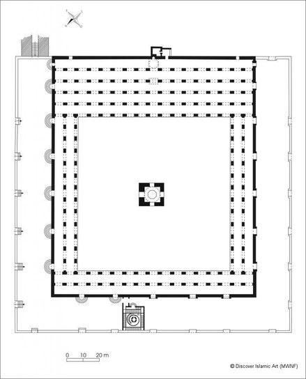 Le Caire - Plan de la mosquée Ibn Touloun