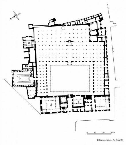 Le Caire - Plan de la mosquée Al Azhar