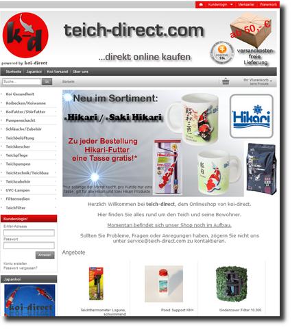 teich-direct.com Onlineshop für Teichbedarf