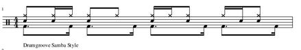 Schlagzeugnoten Samba Variation