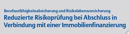 Allianz BU Sonderaktion reduzierte Gesundheitsfragen Immobilienfinanzierung