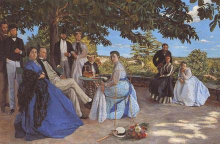 フレデリック・バジール《家族の再会》1868-1869年