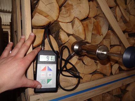 Prüfung mittels Holzfeuchte-Meßgerät