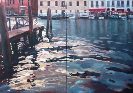 Venedig-Flair: Bild von Anna Chulkova aus der Serie 'TURIST' | Wasserstrukturen. Foto: Galerie