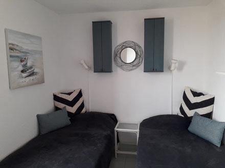 Ferienwohnung in Gruissan Les Ayguades - 1. Schlafzimmer (2 Betten - 90x190)