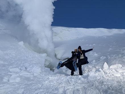 旭岳噴気孔スノーシューツアー