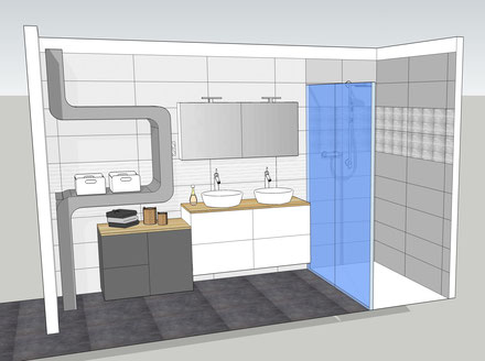 Rénovation espace salle de bain et toilettes - Couleurs et déco ...