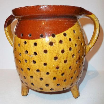 alte Kohrener Keramik Kohren-Sahlis Siebtopf Latzmuster