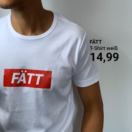 14,99 €  FÄTT - T-Shirt print - weiß  Wiestehtes