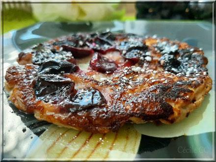 recette omelette sucre au raisin