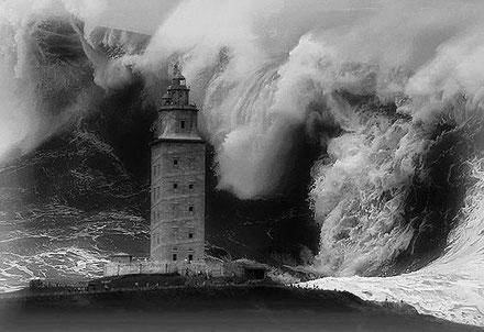 El far Torre d'Hèrcules, la Corunya, Galícia.