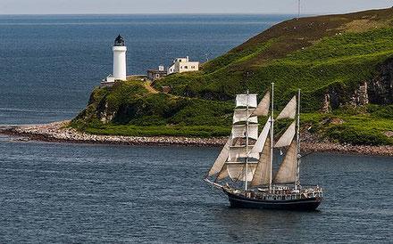 Far a l'Illa Daavar, Campbeltown, Kintyre, Escòcia.