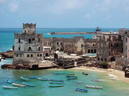 El que queda del famós far de Mogadiscio, Somàlia.