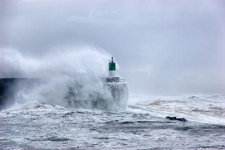 Far del port de la Guàrdia, Pontevedra, Galícia.