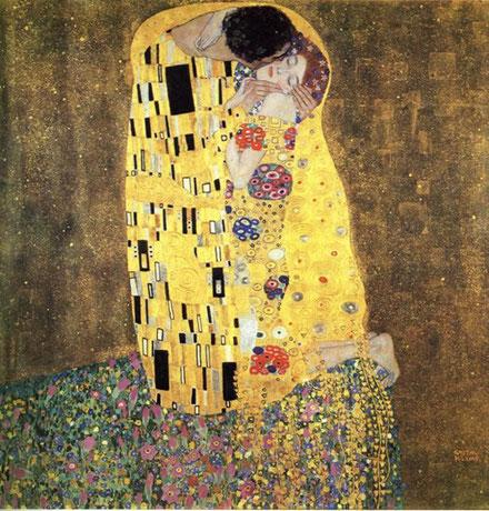 Gustav Klimt - The Kiss, 1907-1908. Oil on canvas