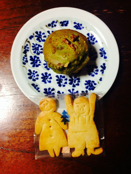 抹茶と小豆のマフィン ジンジャーボーイ・ジンジャーガール