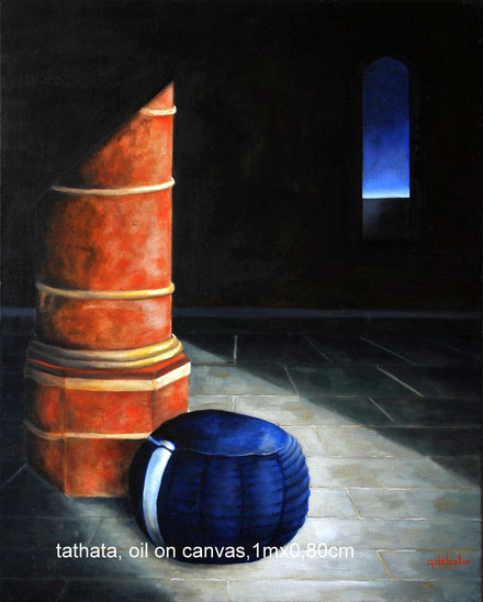 Tathata  olieverf op canvas .  80cmx100cm . Prijs 550 euro inc btw
