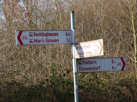 Weggabelung Halterner Str. / Haardgrenzweg