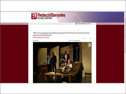 03/05/13 - BLUF, obra seleccionada a la XI Mostra Nacional de Teatre Amateur de Pineda