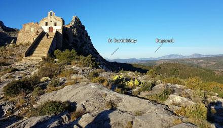 Rando plaisir de Randos Canétoises au départ de  Sainte Colombe de la Commanderie vers le roc de Majorque le 02 février 2018