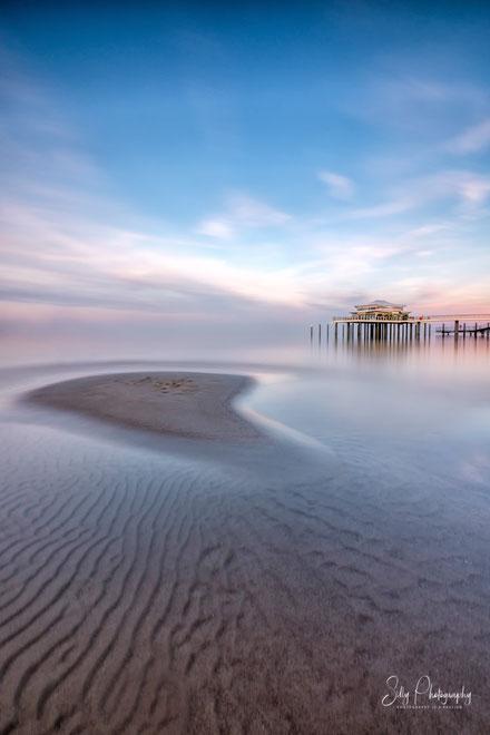 Timmendorfer Strand / Teehaus Wolkenlos, Ostsee, Sonnenuntergang, Langzeitbelichtung,2019, ©Silly Photography