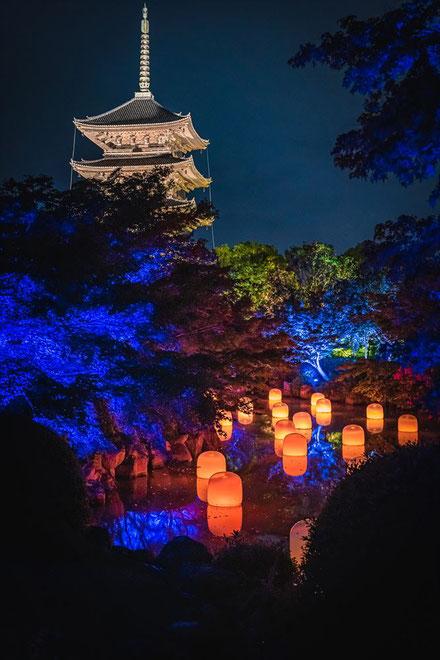 【東寺】チームラボ・光の祭インカラミ