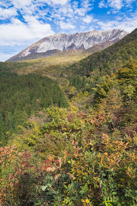 鳥取県の鍵掛峠からの大山