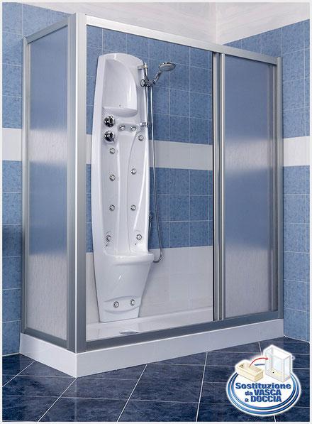 Sostituzione vasca da bagno con doccia costi  My-Rome...