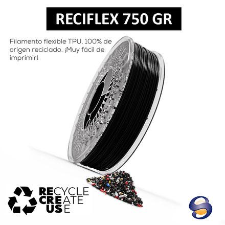 Filamento 3D Flexible de origen 100% reciclado