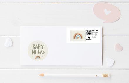 Sticker Geburtskarte Geburtsanzeige Geburt Schweiz