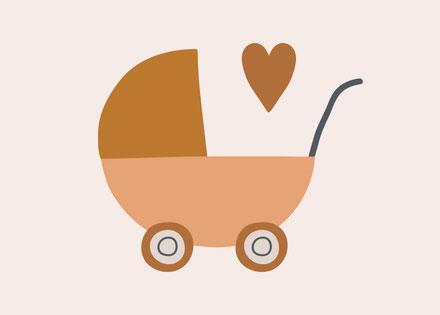 Webstamp Geburtskarte Geburtsanzeige