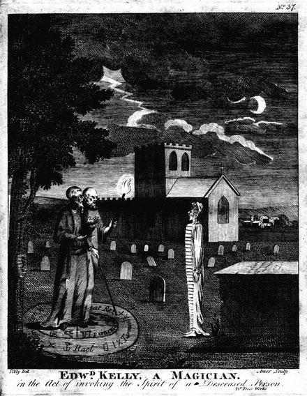 ジョン・ディとエドワード・ケリーによる「白い女」の絵