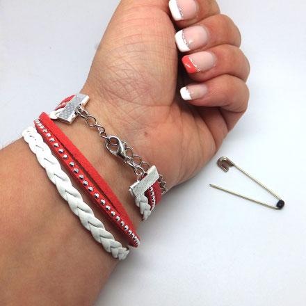 Tuto: Comment mettre mon bracelet seule? Retirez l'épingle à nourrice de la chaîne
