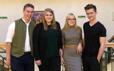 Von li.n.re: Thomas Honsig, Katharina Graf, Denise Pelikan, Jonathan Lechner.