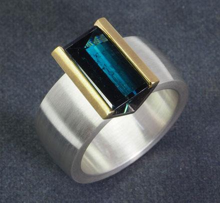 Turmalin  Ring  Spiegelschliff