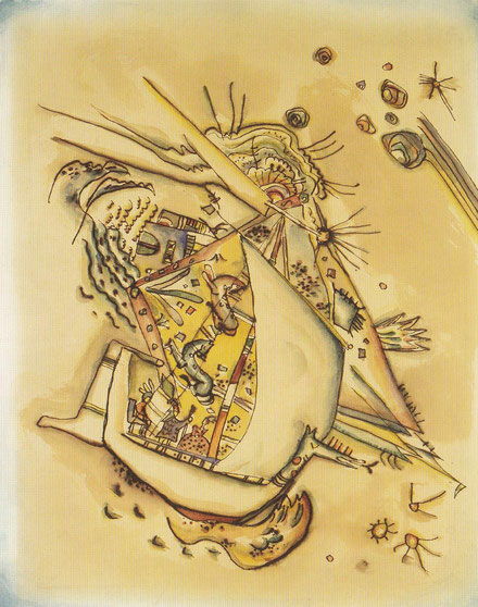 Sin título.1917.Acuarela y tinta china sobre papel.Legado de Nina Kandinsky.