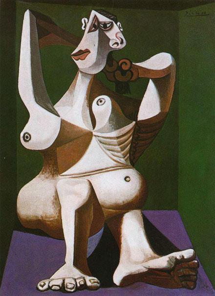 Mujer peinándose 1940.Óleo sobre lienzo.130x97cm. Museum of Art, Nueva York.